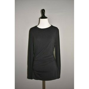 ANN TAYLOR Ruched Long Sleeve Tee Shirt